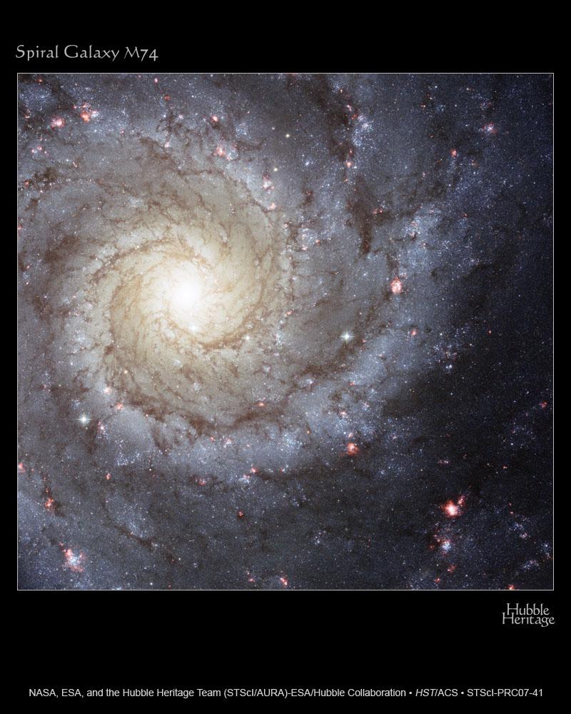 Spiralgalaxie M74 im Sternbild Fische (Hubble Heritage)