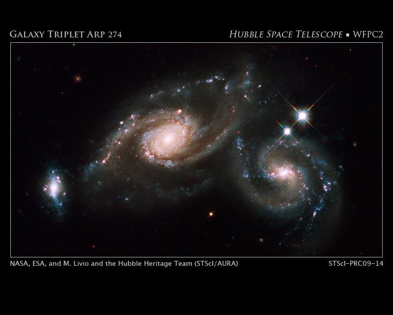 """""""Hubbles nächste Entdeckung"""" Arp 274 im Bild"""