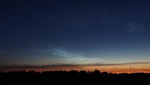 Leuchtende Nachtwolke über Radensdorf am 23. Juni 2009
