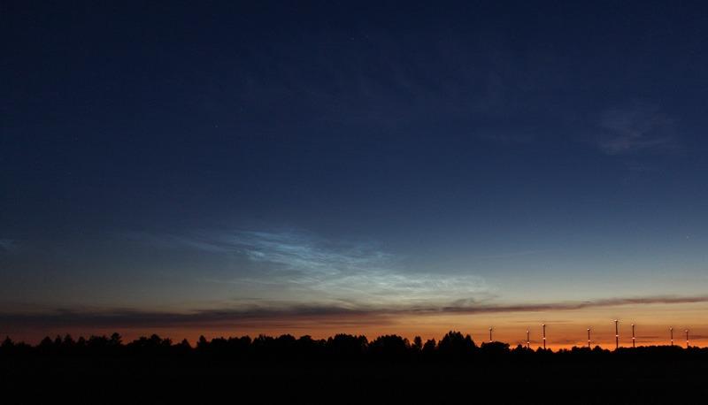 Leuchtende Nachtwolken am 23. Juni