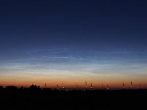 Leuchtende Nachtwolken am 15. Juli 2009