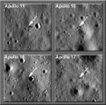 Apollo Landeplätze fotografiert von LRO