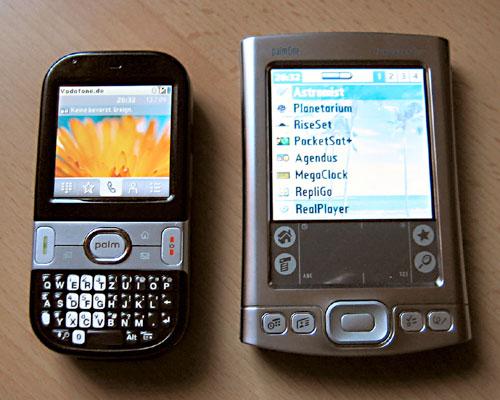 Vergleich Palm Centro - Palm Tungsten E2