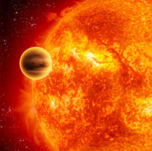 Exoplanet mit retrograder Umlaufbahn