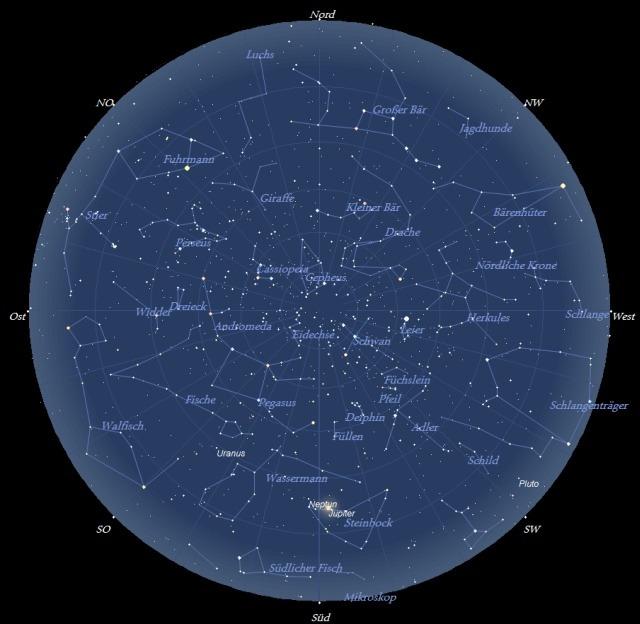 Der Sternhimmel im Monat September 2009