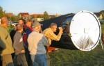 Sonnenbeobachtung mit dem 42 Zoll Riesendobson auf dem 9. HTT