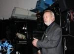 Dieter B. Herrmann nach seinem Vortrag im Herzberger Planetarium