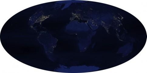 Menschengemachte Lichtverschmutzung © NOAA
