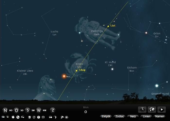 Ein Planetarium für den Browser
