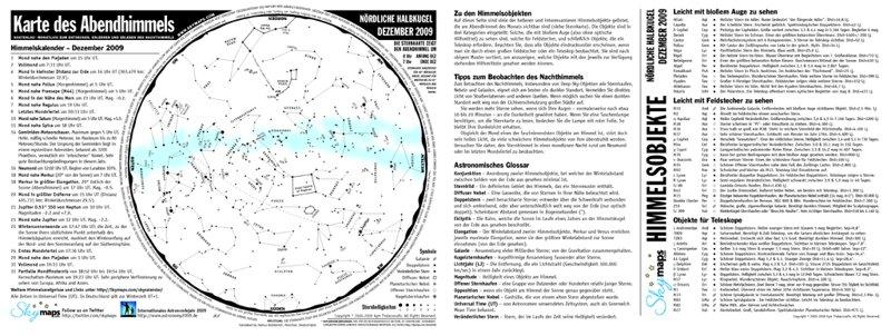 Der abendliche Sternhimmel als monatliche PDF-Datei