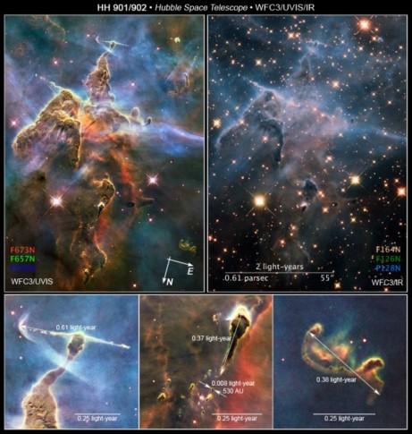 HH 901/902 - Detail © NASA, ESA, STScI