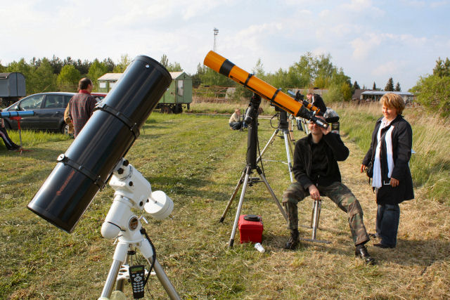 Sonnenbeobachtung auf dem 13. SBST