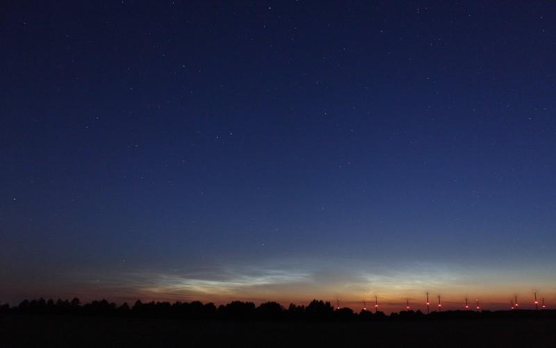 Leuchtende Nachtwolken am 9. Juli 2010