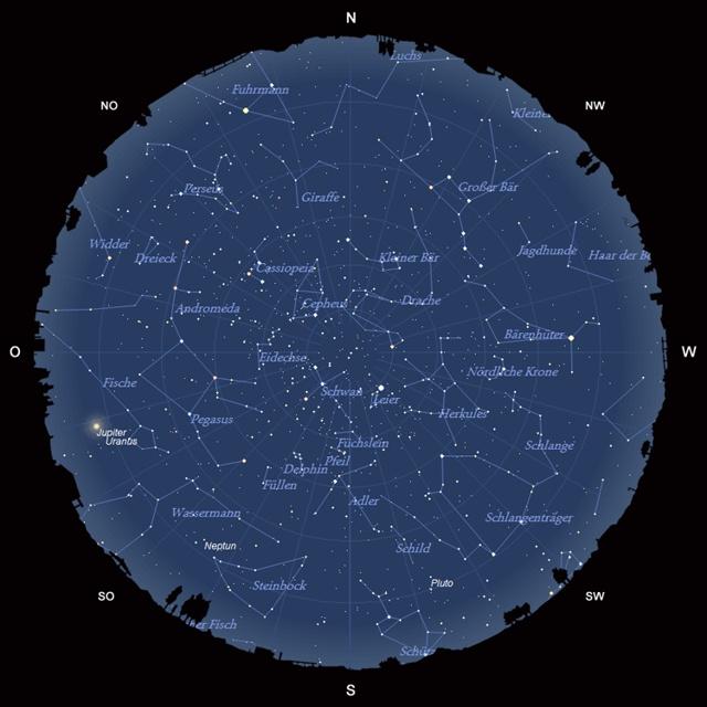 Der Sternhimmel im August 2010
