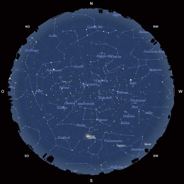 Der Sternhimmel im Oktober 2010