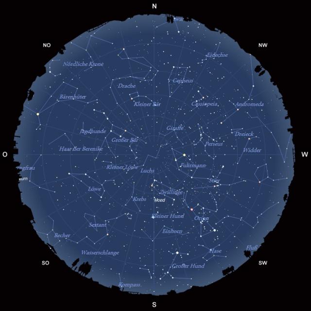 Der Sternhimmel im Februar 2011