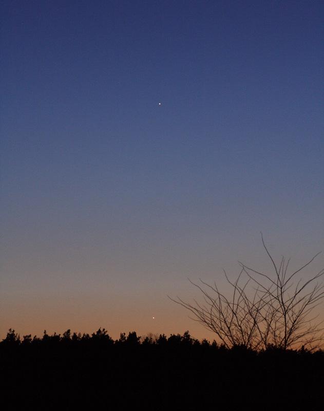 Merkur & Jupiter am Abendhimmel