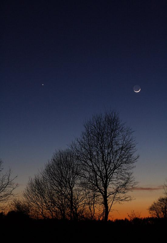 Mond und Jupiter am 06.03.2011