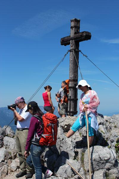 Auf dem Gipfel des Jenner/Berchtesgaden