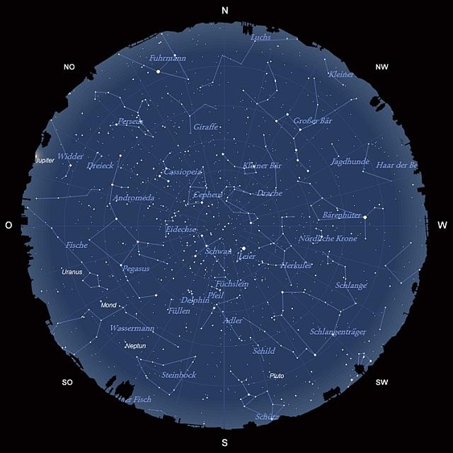 Der Sternhimmel im August 2011