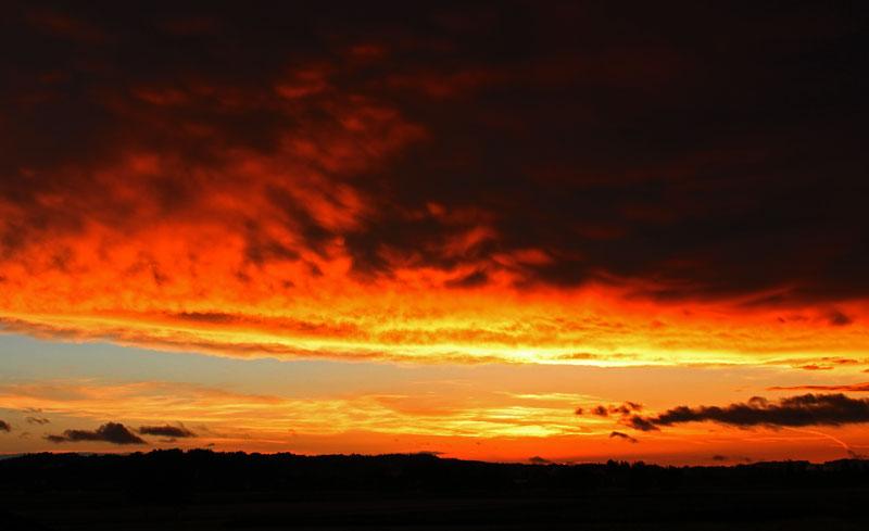 Farbiger Sonnenuntergang