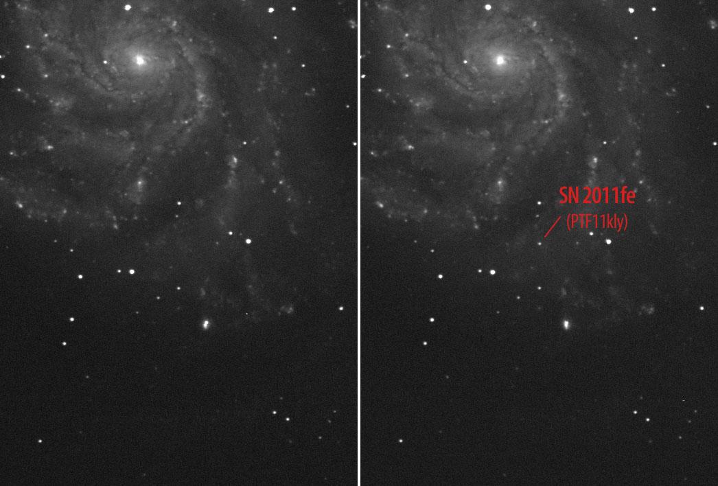 Helle Supernova in Messier 101