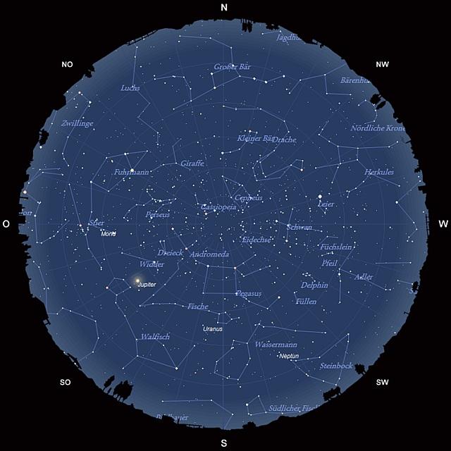 Der Sternhimmel im Oktober 2011