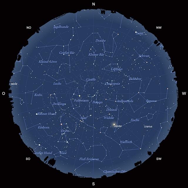 Der Sternhimmel im Dezember 2011