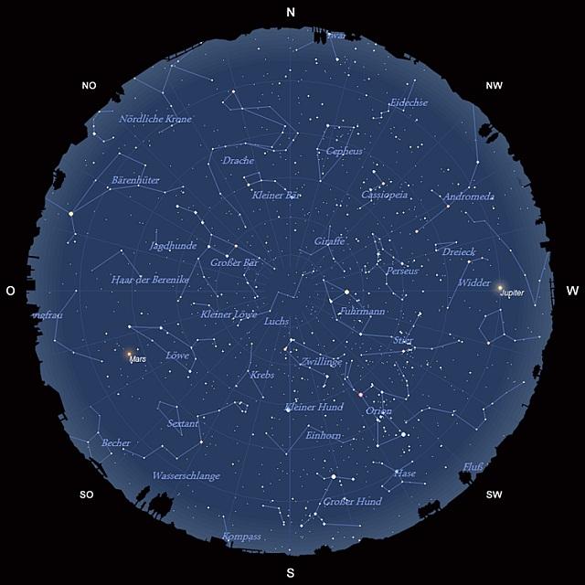 Der Sternhimmel im Februar 2012