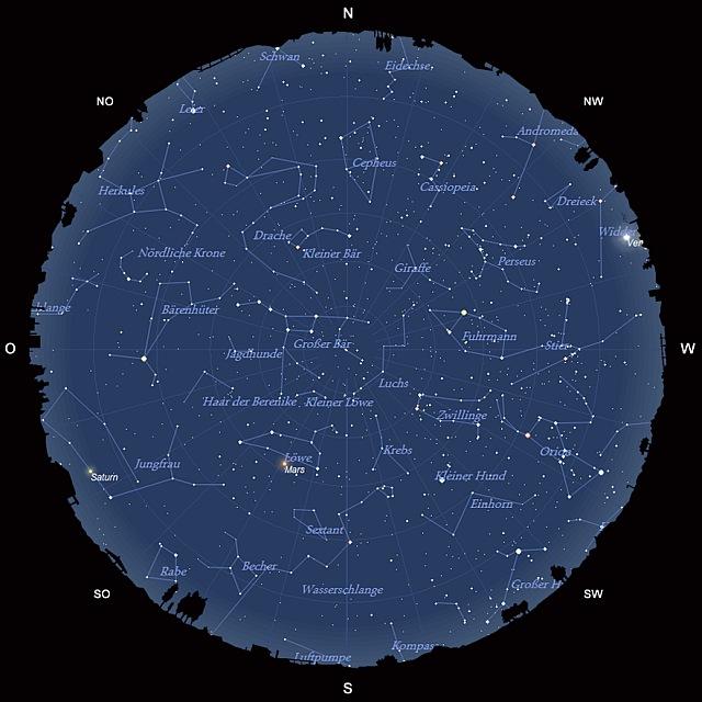 Der Sternhimmel im März 2012