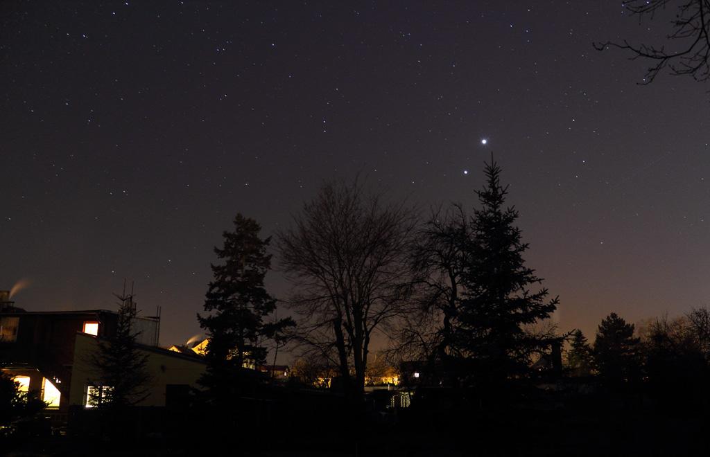 Venus und Jupiter Konjunktion