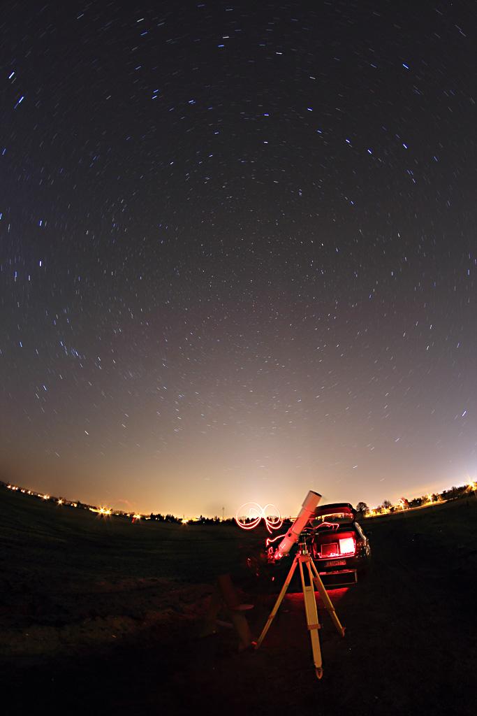 Startrail & Teleskop