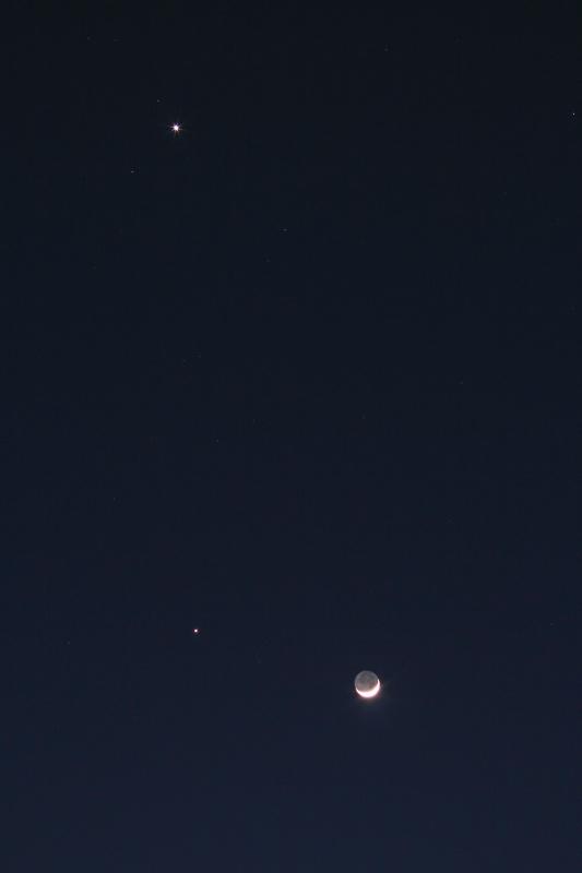 Mond, Venus & Jupiter