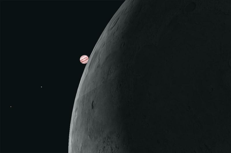 Jupiterbedeckung durch den Mond am 15. Juli 2012