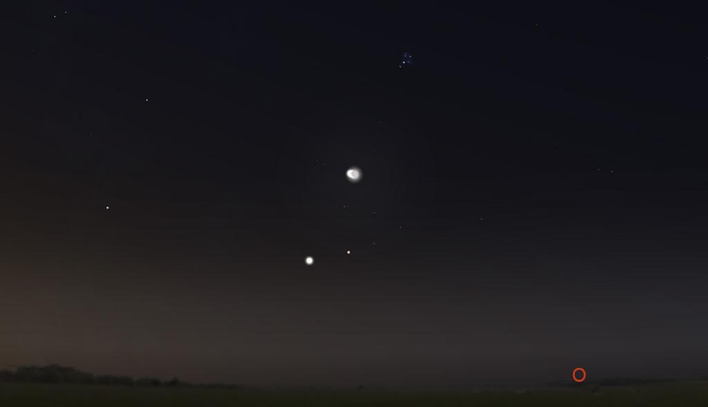 Himmelsanblick am Morgen des 15. Juli 2012