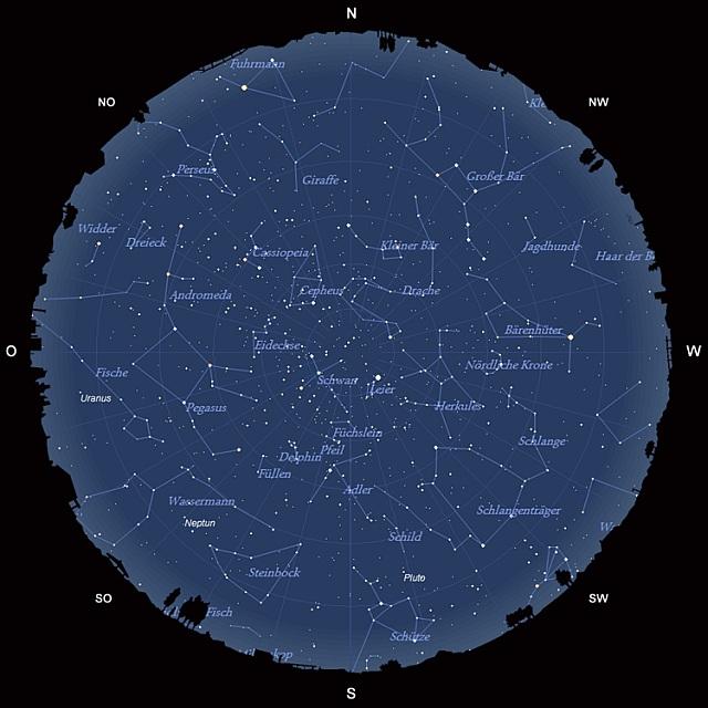 Der Sternhimmel im August 2012