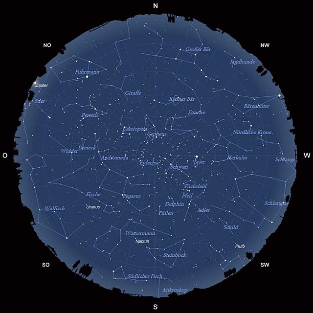 Der Sternhimmel im September 2012