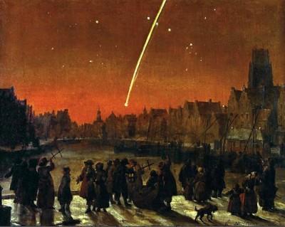 Der Große Komet von 1680 in einer zeitgenössischen Darstellung
