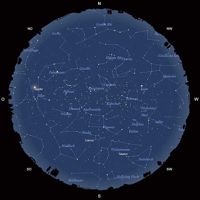 Der Sternhimmel im Oktober 2012
