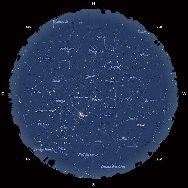 Der Sternhimmel im Dezember 2012