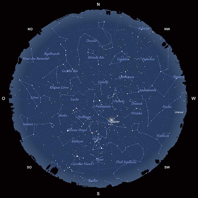 Der Sternhimmel im Januar 2013