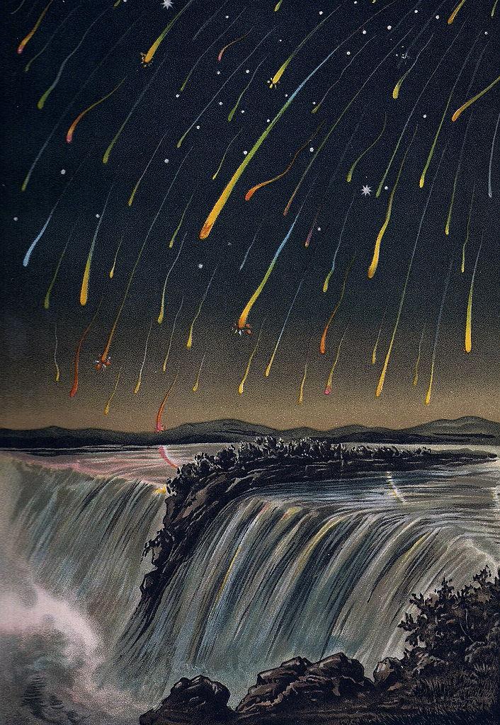 Meteorsturm der Leoniden 1833