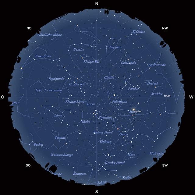 Der Sternhimmel im Februar 2013