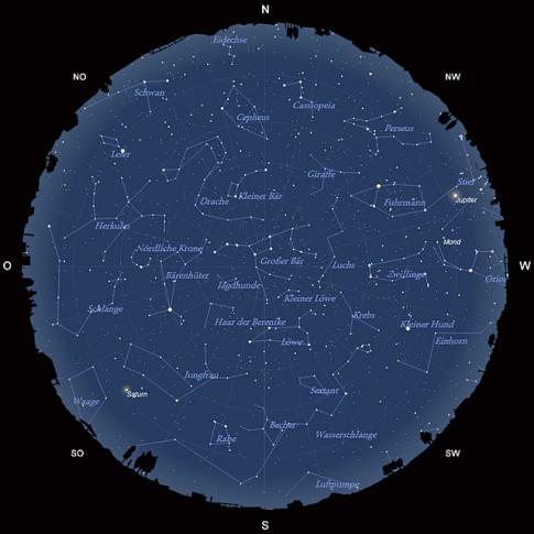 Der Sternhimmel im April 2013