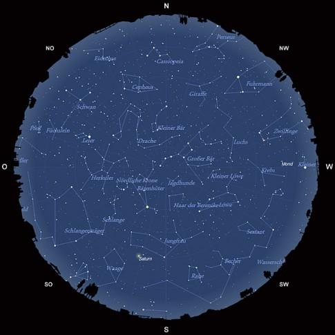 Der Sternhimmel am 15. Mai 2013 um 23:00 MESZ