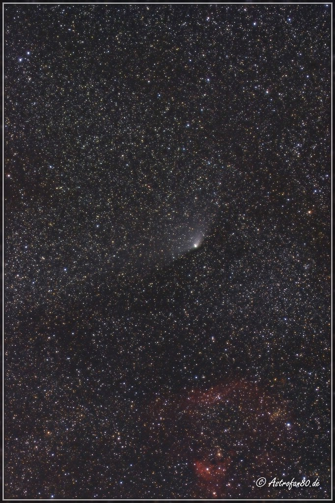 Komet PANSTARRS am Nachthimmel
