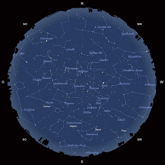 Der Sternhimmel im September 2013