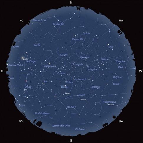 Der Sternhimmel am 15. November 2013 um 22:00 MEZ