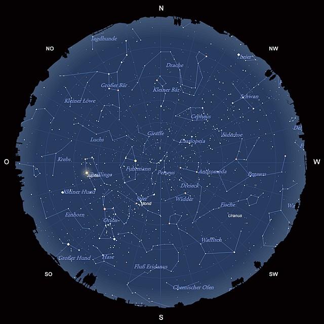Der Sternhimmel im Dezember 2013