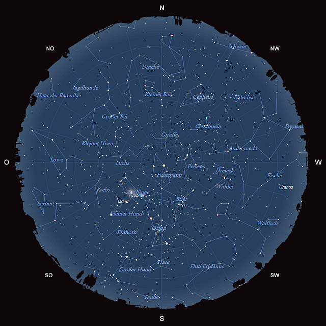 Der Sternhimmel im Januar 2014